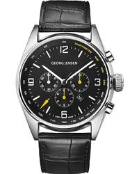 Georg Jensen - Delta Classic Stainless Steel And Leather Limited Edition Watch - Lyst