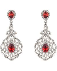 Mikey - Fillagary Crystal with Col Stone Earring - Lyst