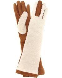 Acne Studios - Mytheresa.com Exclusive Greta Shearling And Suede Gloves - Lyst