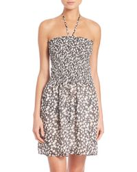 Tory Burch | Orchard Smocked Dress | Lyst