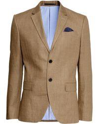 H&M | Jacket In A Linen Blend | Lyst