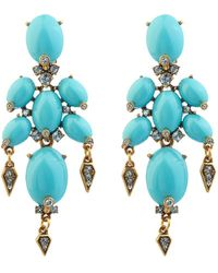 Oscar de la Renta Oval Cabochon Earrings - Lyst