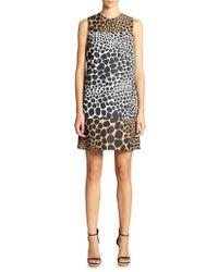 Michael Kors Animal Print Dress - Lyst