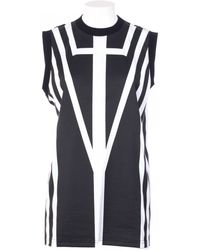Givenchy Oversize Cotton Tank Black And White black - Lyst