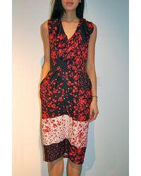 Preen Line Alba Dress Red Flower Patchwork - Lyst