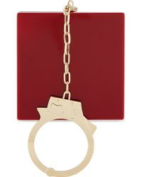 Charlotte Olympia Kinky Handcuff Clutch Crimson - Lyst