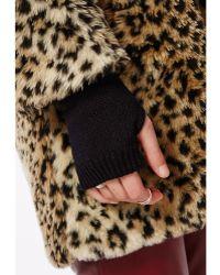 Missguided Rohini Fingerless Gloves Black - Lyst