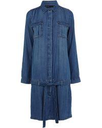 Karen Millen Soft Denim Shirt Dress - Lyst