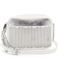 Kenneth Cole - Dover Street Leather Perforated Crossbody Bag - Lyst