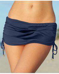Calvin Klein Side-Tie Ruched Swim Skirt - Lyst