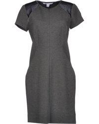 Diane von Furstenberg Short Dress gray - Lyst
