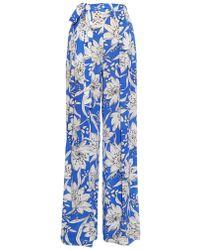 Max Mara Studio Nitra Trousers blue - Lyst