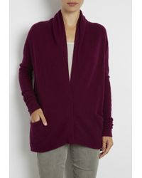 Inhabit Whisper Weight Crepe Cardigan purple - Lyst