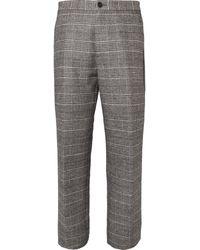 Maison Martin Margiela Check Woven Woolblend Trousers - Lyst
