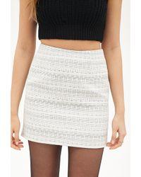 Forever 21 Zigzag Patterned Skirt - Lyst