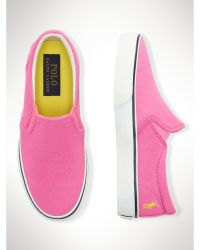 Ralph Lauren Carlee Slip-On Sneaker - Lyst