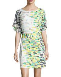 BCBGMAXAZRIA Dolman Sleeve Kimono Dress - Lyst