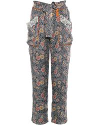 Isabel Marant Almon Patch-Pocket Trousers - Lyst