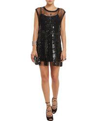 Balmain Embellished Tulle Mini Dress - Lyst
