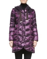 T Tahari Gisele Quilted Hooded Puffer - Lyst