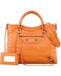 Balenciaga Classic Velo Bag Tangerine - Lyst