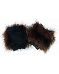 San Diego Hat Company - Womens Fingerless Faux Fur Gloves - Lyst