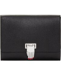 Opening Ceremony - Black Leather Hand Clasp Nokki Clutch - Lyst