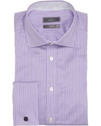 John Lewis - Luxury Twill Stripe Shirt with Cufflinks - Lyst