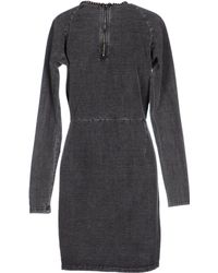 Numph Short Dress gray - Lyst