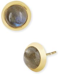 Argento Vivo Cushion Stud Earrings gray - Lyst