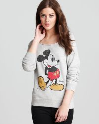 Junk Food - Pullover Mickey Mouse Off Shoulder - Lyst