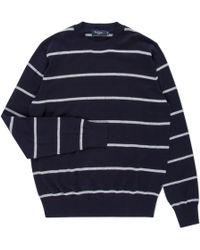 Paul Smith | Men's Navy Stripe Cotton Sweater | Lyst