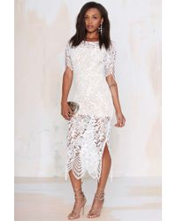 Nasty Gal For Love And Lemons Luna Lace Dress - Lyst