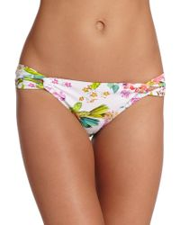 Shoshanna Botanical Loop Bikini Bottom multicolor - Lyst