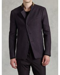 John Varvatos Braided Collar Jacket - Lyst