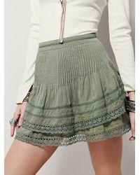Free People | Womens Summer Nights Mini Skirt | Lyst