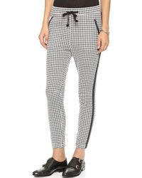 Maison Scotch - Jogger Trousers with Faux Leather Trim Multi - Lyst