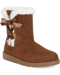 Rampage 143 Girl Arlington Faux-fur Cold Weather Booties - Lyst