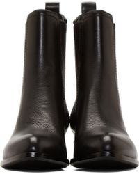 Alexander Wang Black Leather Notched Heel Anouck Boots - Lyst