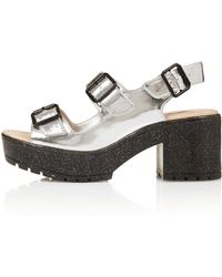 TOPSHOP - Novice Chunky Buckle Sandals - Lyst