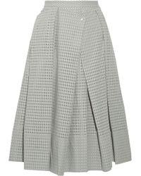 Tibi Riko Eyelet Cotton Midi Skirt - Lyst