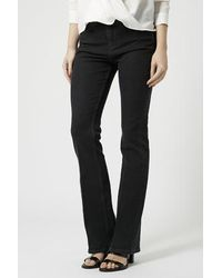 Topshop Moto Washed Black Tally Flares - Lyst