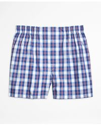 Brooks Brothers   Slim Fit Large Split Check Boxers   Lyst