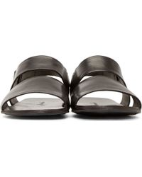 Marsell Black Leather Strappy Sandals - Lyst