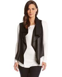 Karen Kane Faux Leather Vest - Lyst