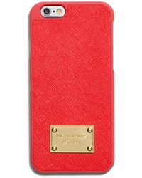 Michael Kors Saffiano Leather Phone Case For Iphone 6 - Lyst