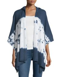 Minnie Rose - Cashmere Colorblocked Hooded Cape - Lyst