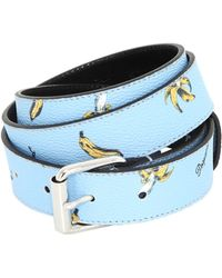 DSquared² 30Mm Banana Printed Vinyl Belt blue - Lyst