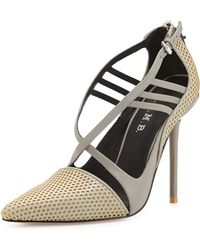 L.A.M.B. Boston Strappy Perforated Pump - Lyst