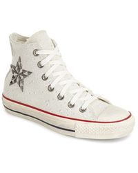 Converse Chuck Taylor All Star 'Star Hardware' High Top Sneaker beige - Lyst